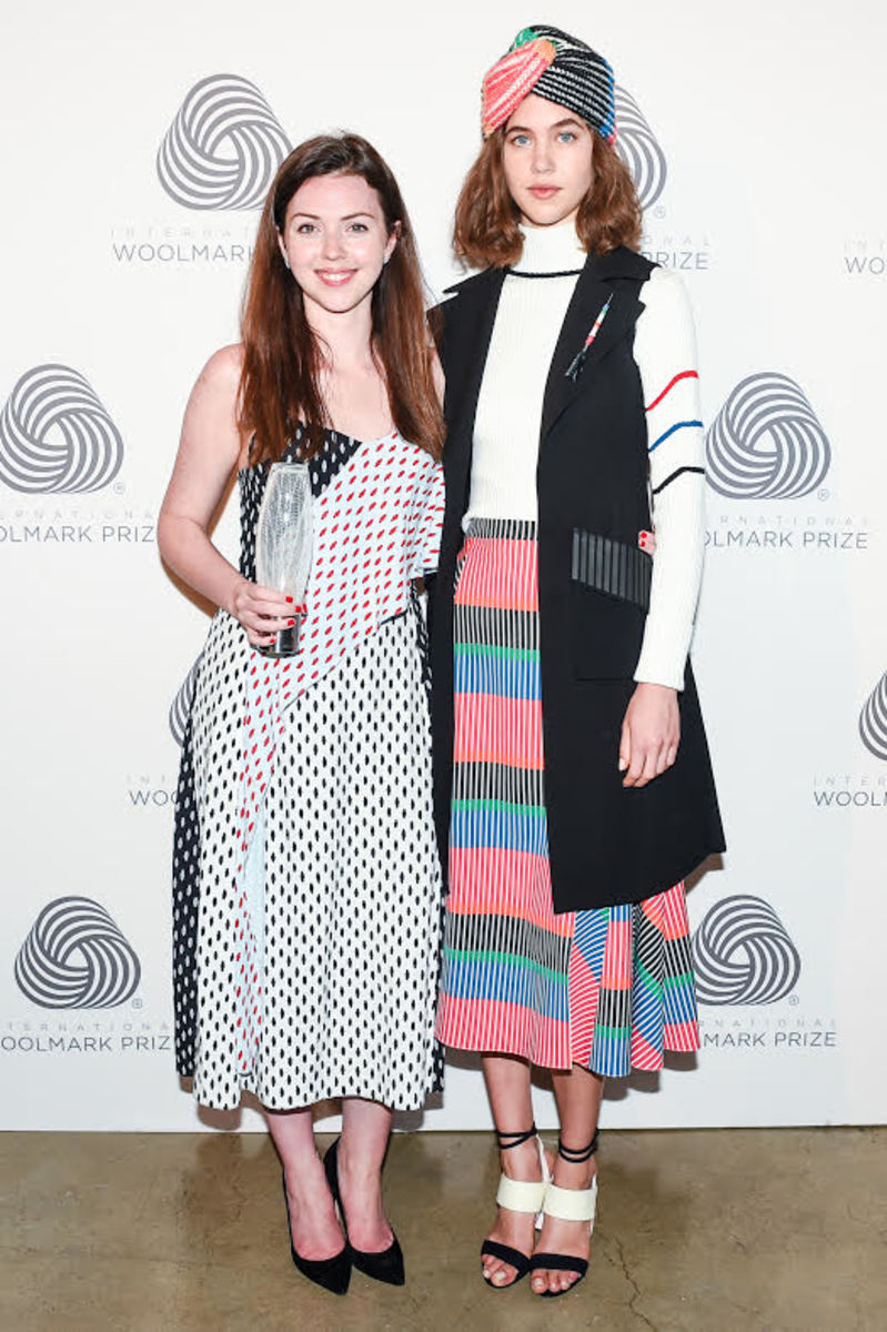 Tanya Taylor and her winning look. Photo: BFA