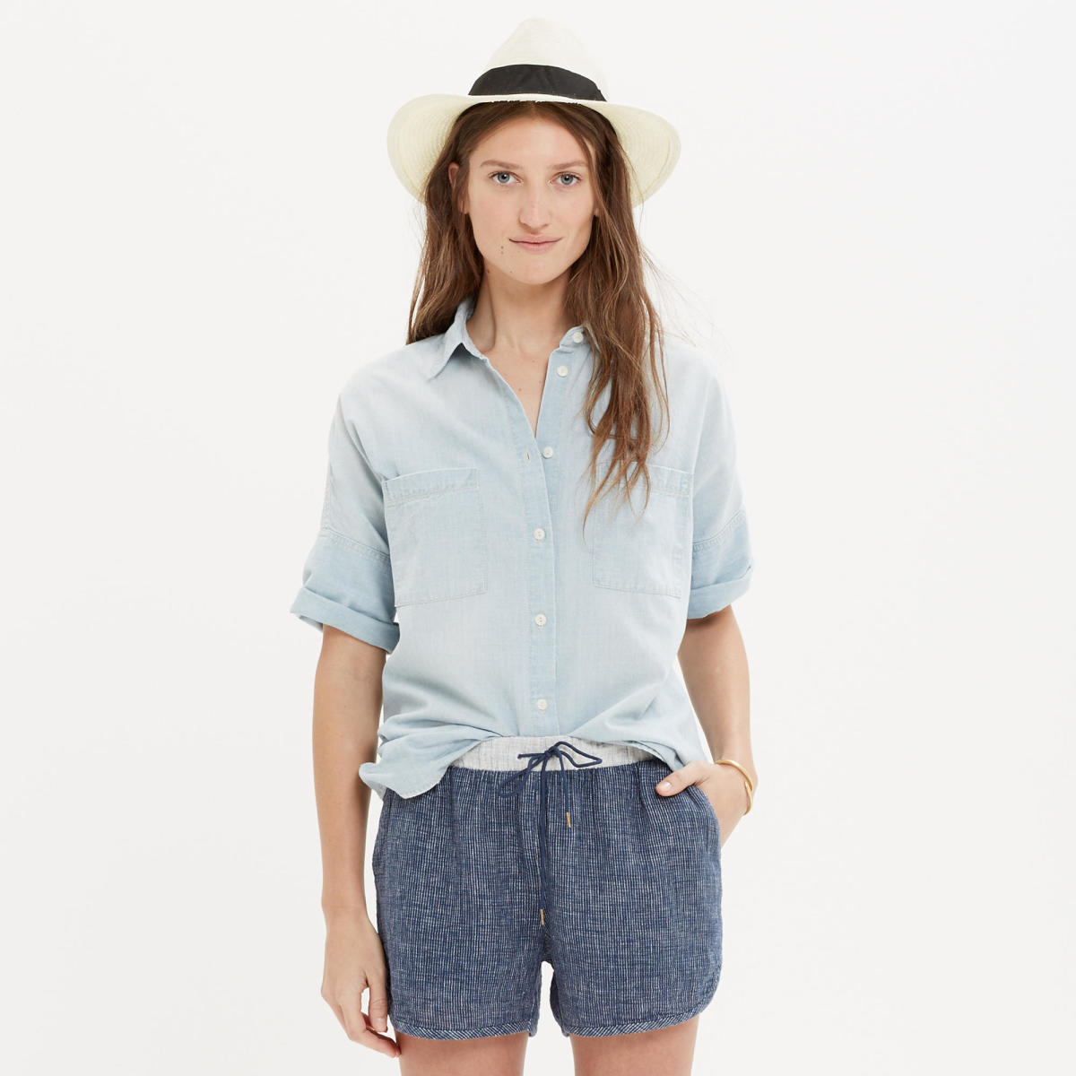 Chambray Courier Shirt, $75, available at Madewell.