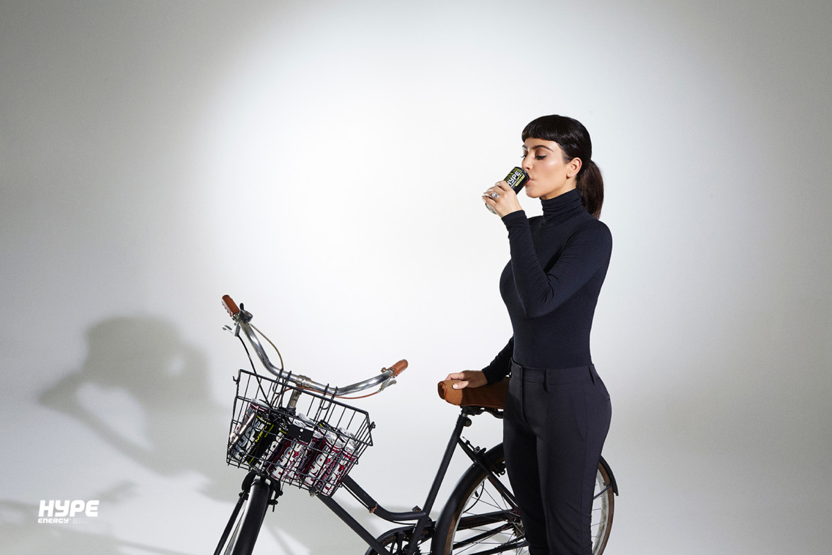 Kim Kardashian channels Audrey Hepburn in all-black getup. Photo: Hype Energy.