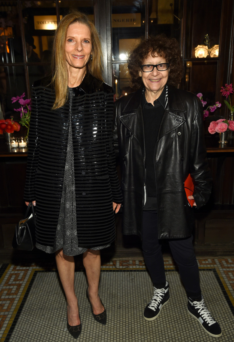 Ingrid Sichy, right, with her wife Sandra Brant at a Chanel dinner in April. Photo: Dimitrios Kambouris/Getty Images for 2015 Tribeca Film Festival