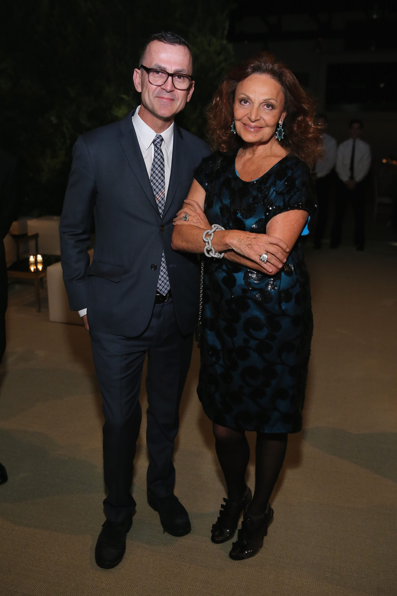 Steven Kolb and Diane von Furstenberg. Photo: Neilson Barnard/Getty Images