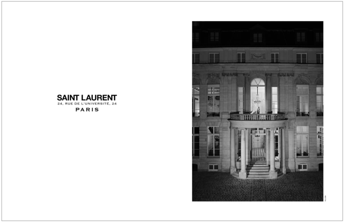 Saint Laurent's two couture ateliers are located at the recently renovated Hôtel de Sénecterre in Paris. Photo: Saint Laurent