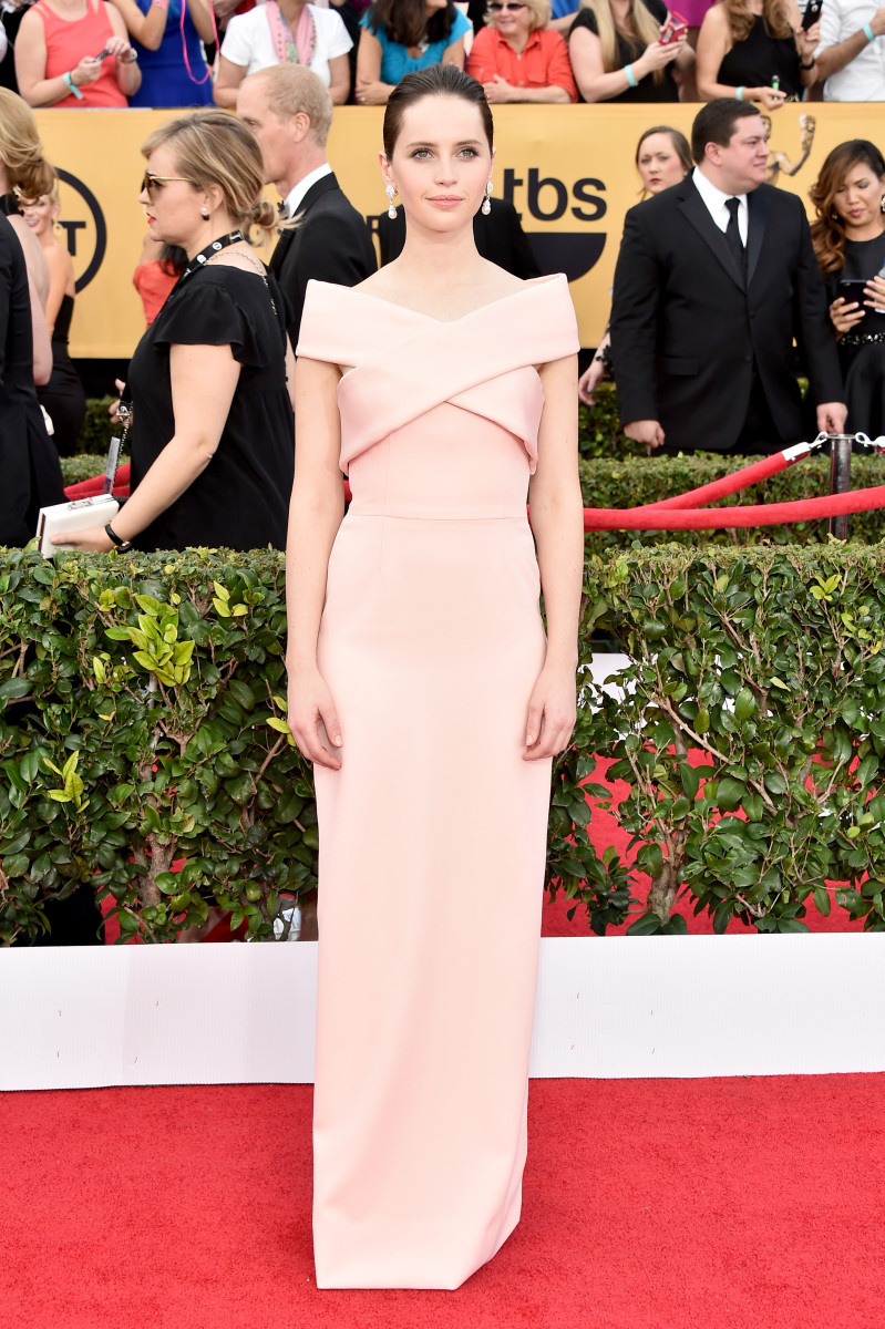 Felicity Jones in Balenciaga at the 2015 SAG Awards: Theo Wargo/WireImage