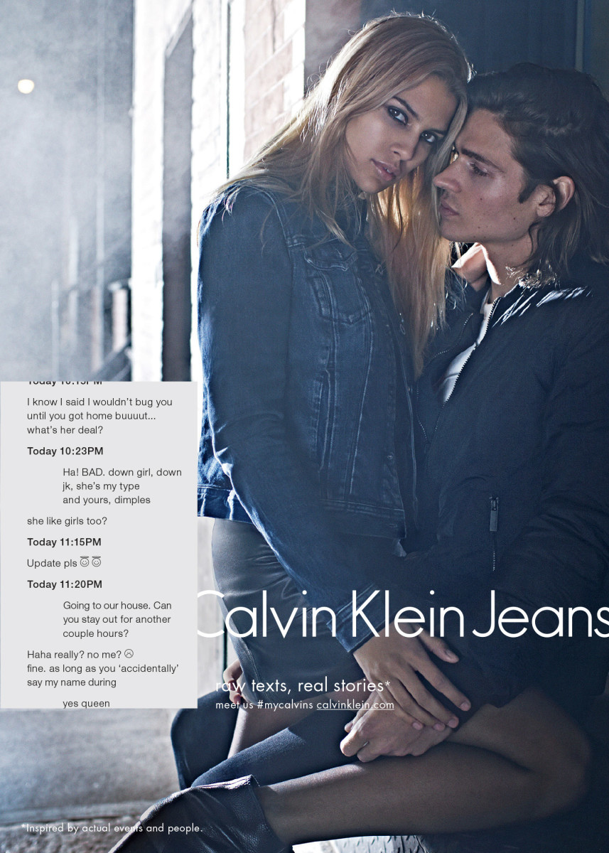 From Calvin Klein Jeans's fall 2015 campaign. Photo: Mario Sorrenti/Calvin Klein Jeans