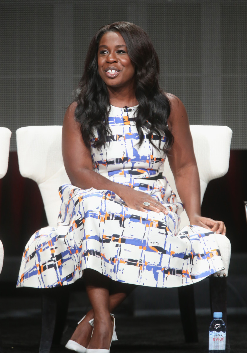 "Uzo Aduba wore L.K. Bennett at an ""Orange is the New Black"" panel on Tuesday. Photo: Frederick M. Brown/Getty Images"