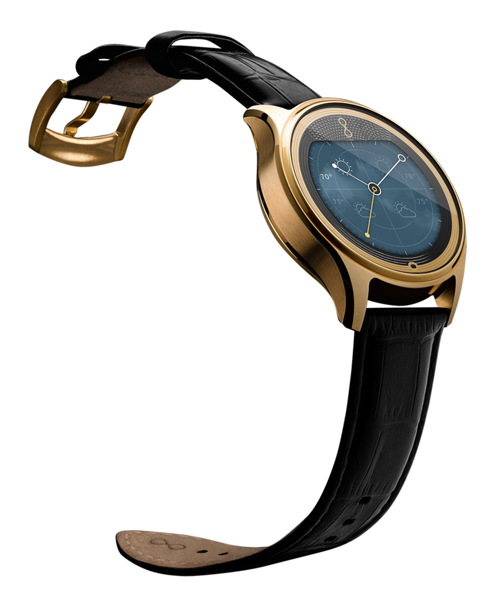 Olio Devices's 24k gold and rose gold watches start at $945. Photo: Olio Devices