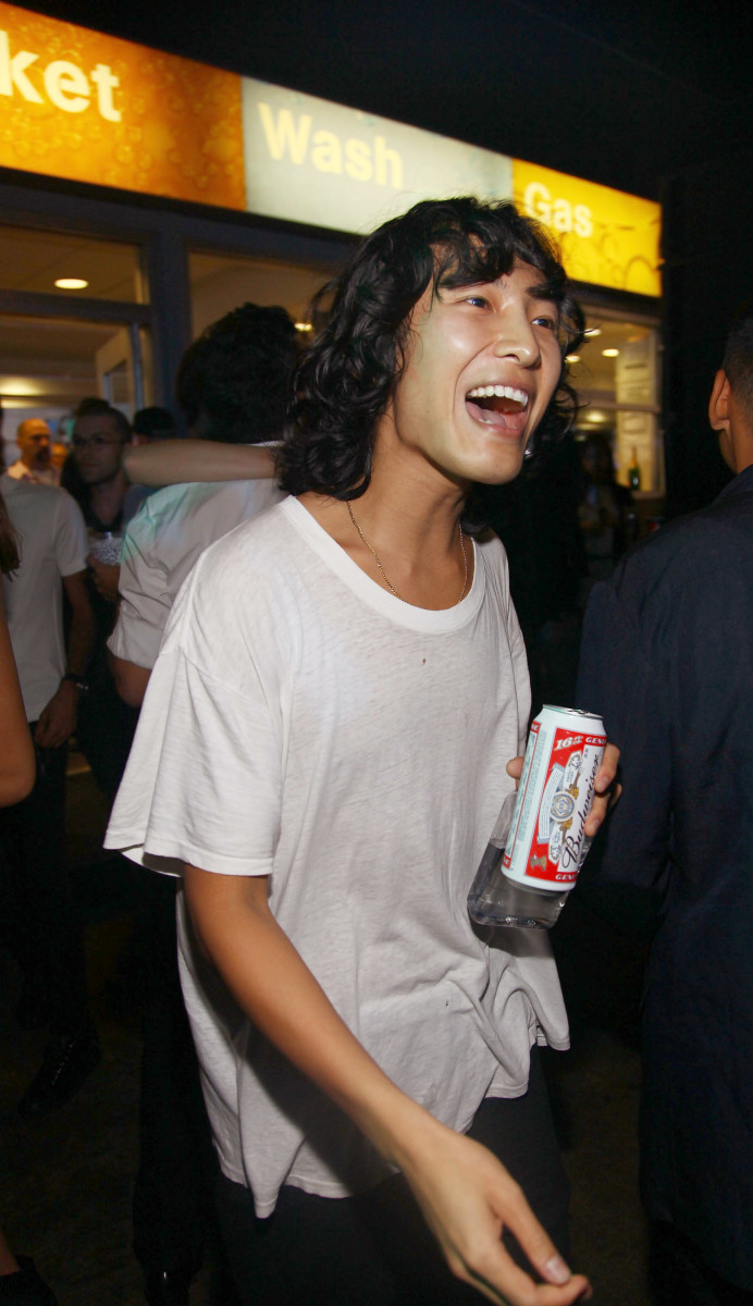 Wang at his gas station after-party in Sept. 2009. Photo: Astrid Stawiarz/Getty Images