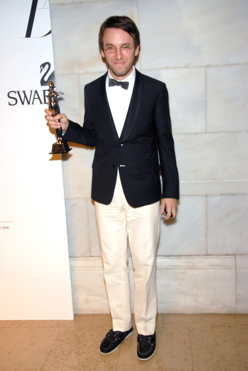 Scott Sternberg after winning a CFDA Award in 2008. Photo: Rabbani & Solimene/WireImage