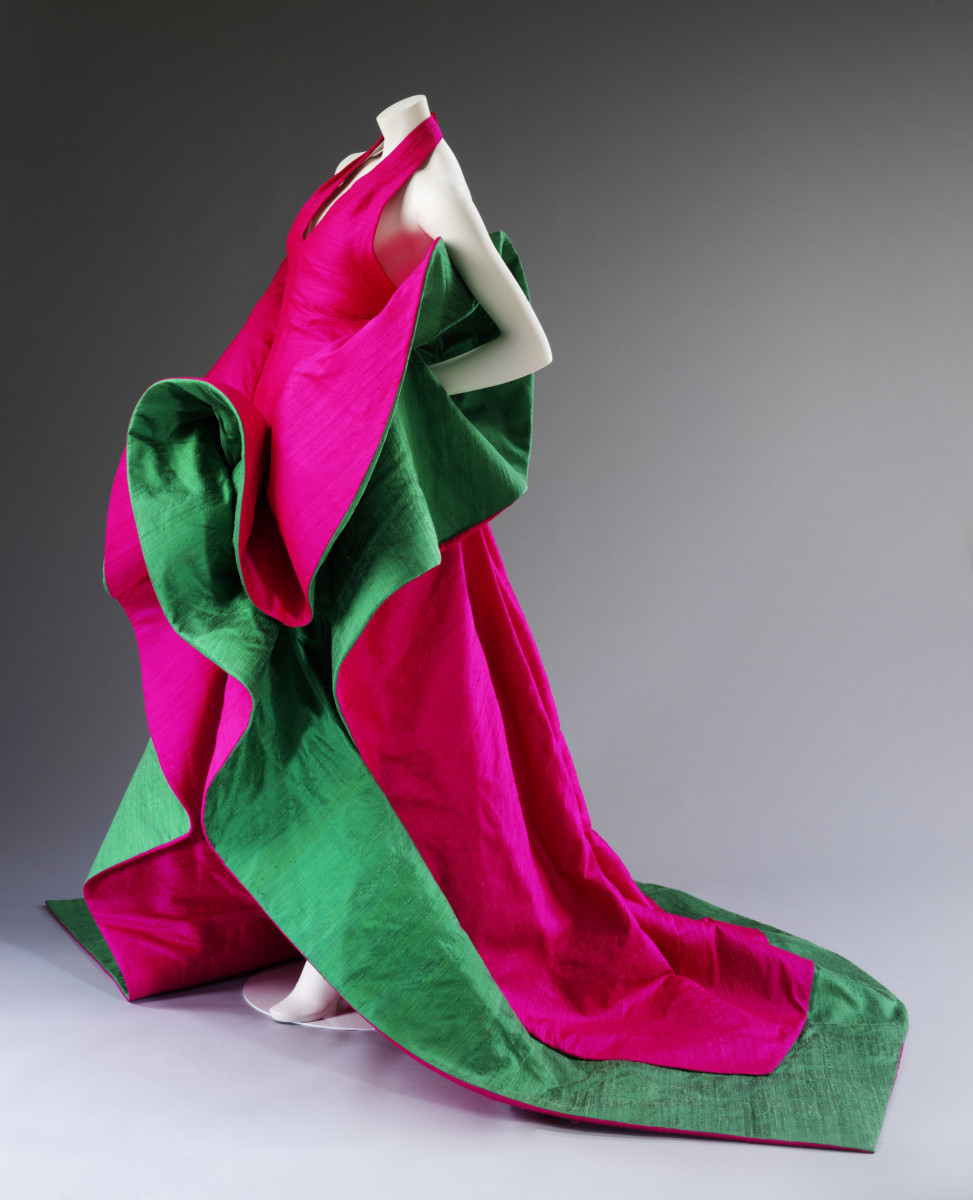 Roberto Capucci. Silk evening dress, 1987–88. Courtesy Roberto Capucci Foundation. Photo © Victoria and Albert Museum, London