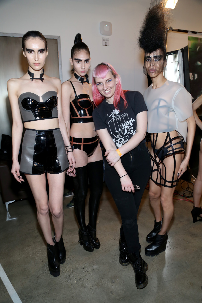 Becca McCharen backstage at Chromat's Made Fashion Week show in February. Photo: Monica Schipper/Getty Images