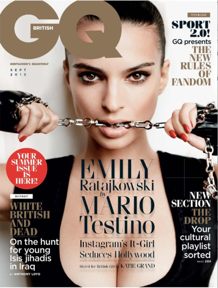 Emily Ratajowski on the September cover of 'GQ' UK. Photo: GQ