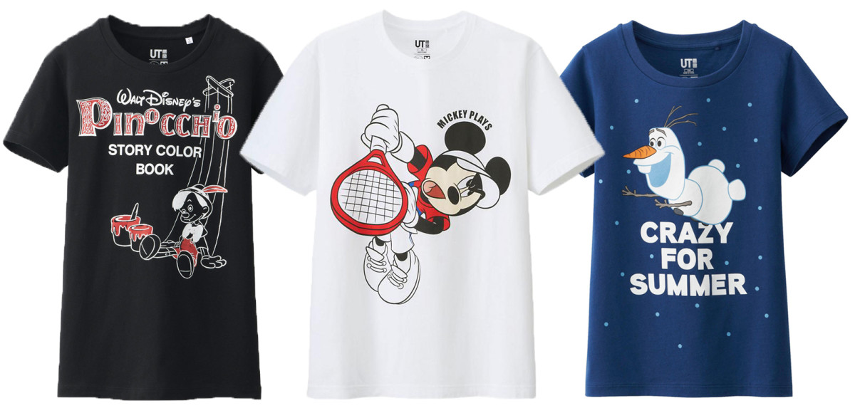 Uniqlo Disney shirts on sale now. Photos: Uniqlo.com