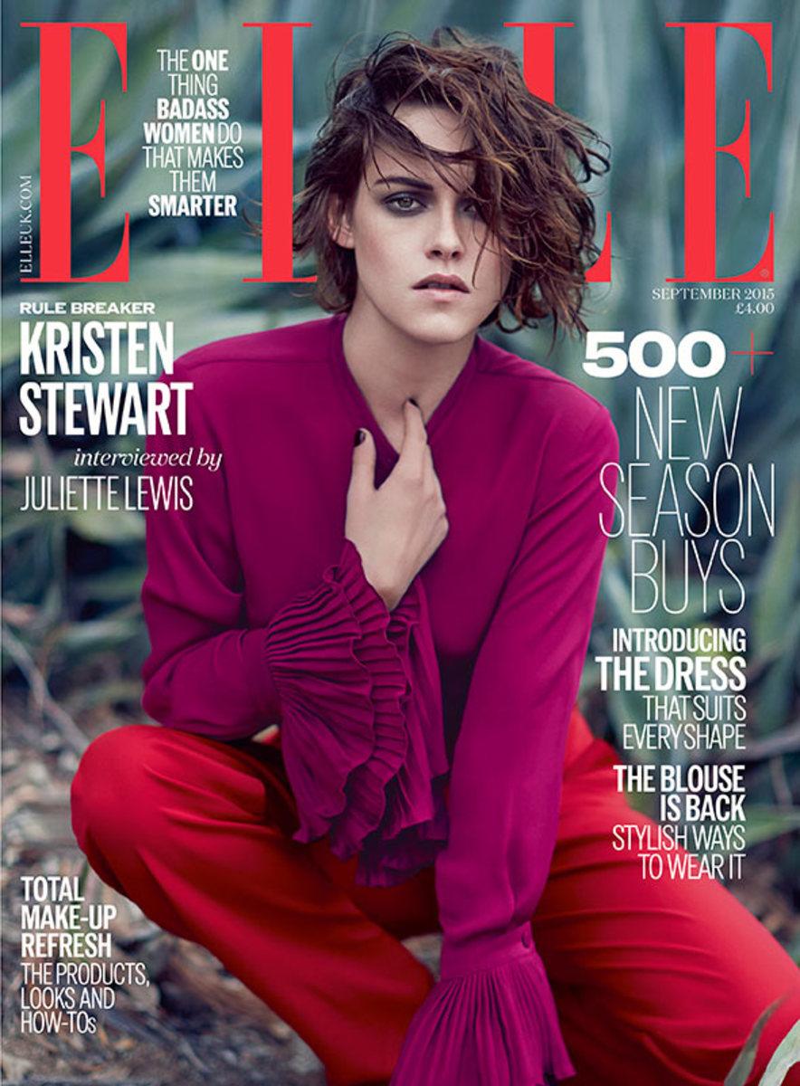 Kristen Stewart on 'Elle' UK's September issue. Photo: Kai Z Feng/Elle UK