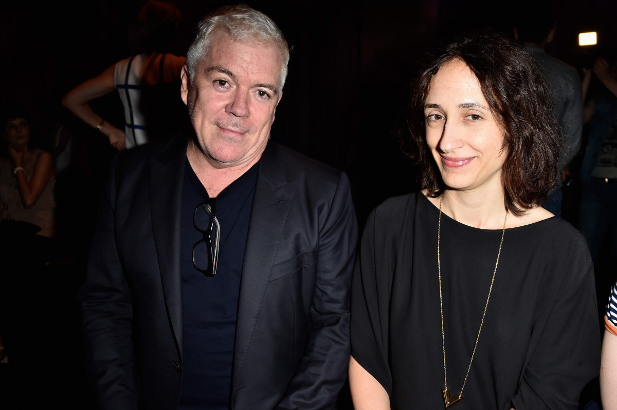 Tim Blanks and Style.com's Nicole Phelps. Photo: Pascal Le Segretain/Getty Images