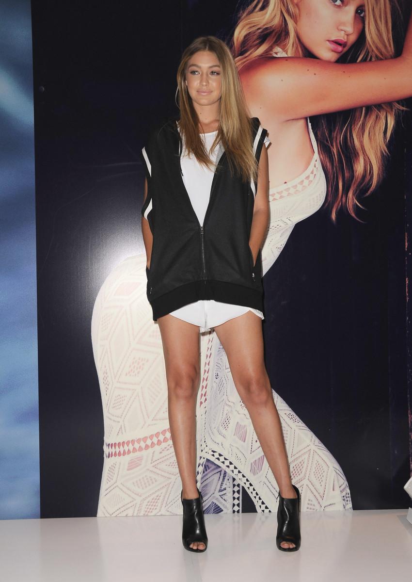 Gigi Hadid wearing Guess in Australia. Photo: Mark Sullivan/WireImage