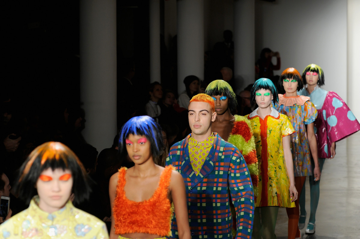 Jeremy Scott's show at Fashion Week in February. Photo: Arun Nevader/Getty Images