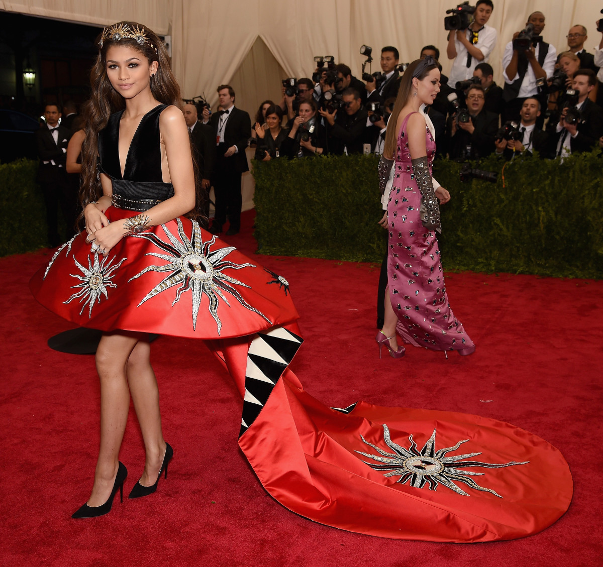 Zendaya at the Met Gala in May, wearing shoes from her upcoming collection. Photo: Dimitrios Kambouris/Getty Images