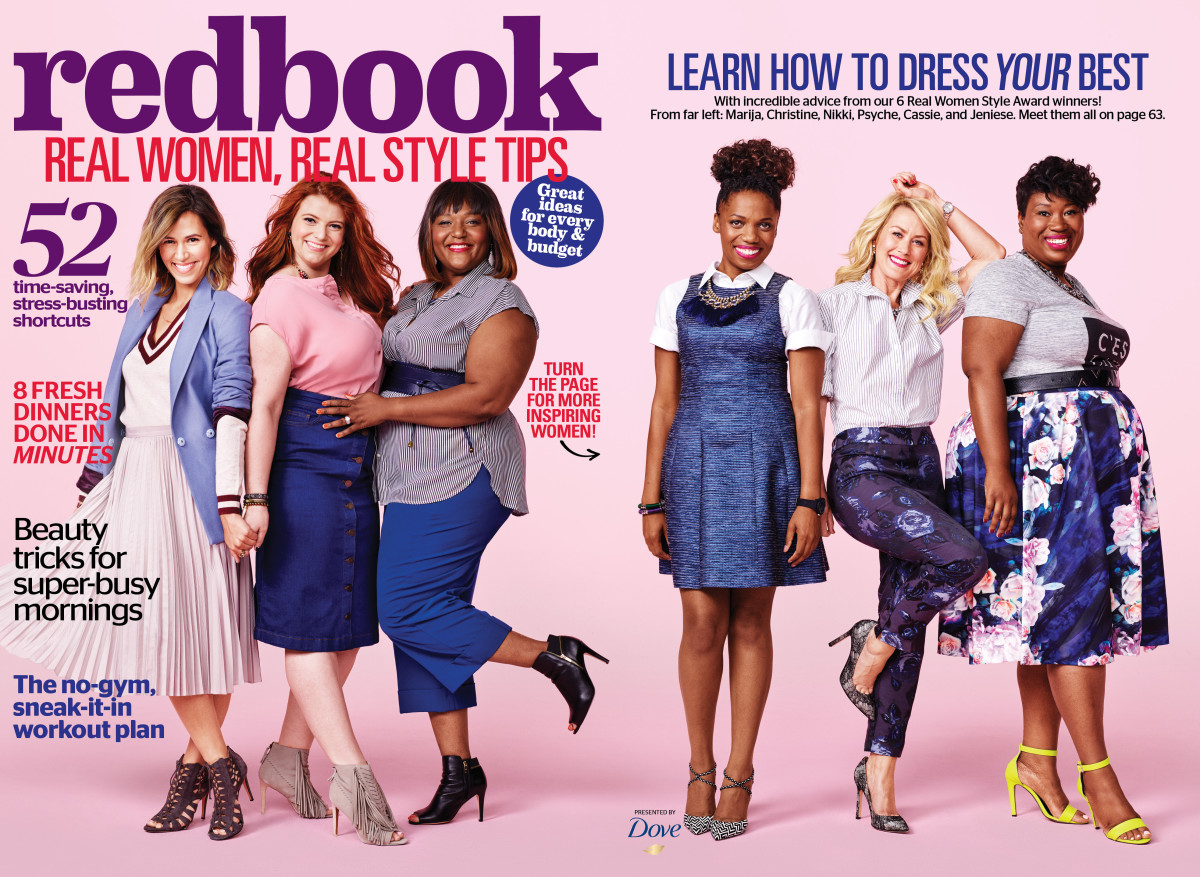 Redbook Real Women Style Award Winners, from left to right: Marija Krosnjar, Christine Buzan, Niki Frenney-Wiggins, Psyche Southwell, Cassie Freeman, Jeniese Hosey. Photo: Redbook