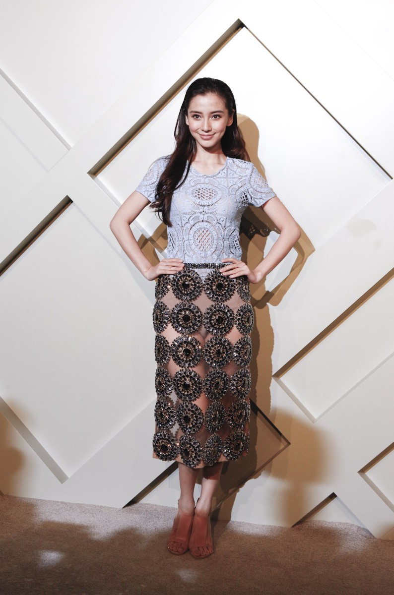 Chinese actress Angelababy at a Burberry event in Shanghai. Photo: Getty Images for Burberry