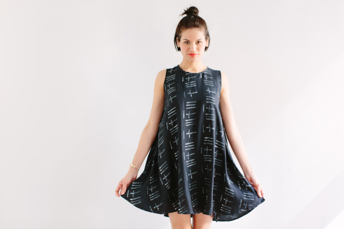 A batik dress on Of a Kind. Photo: Of a Kind