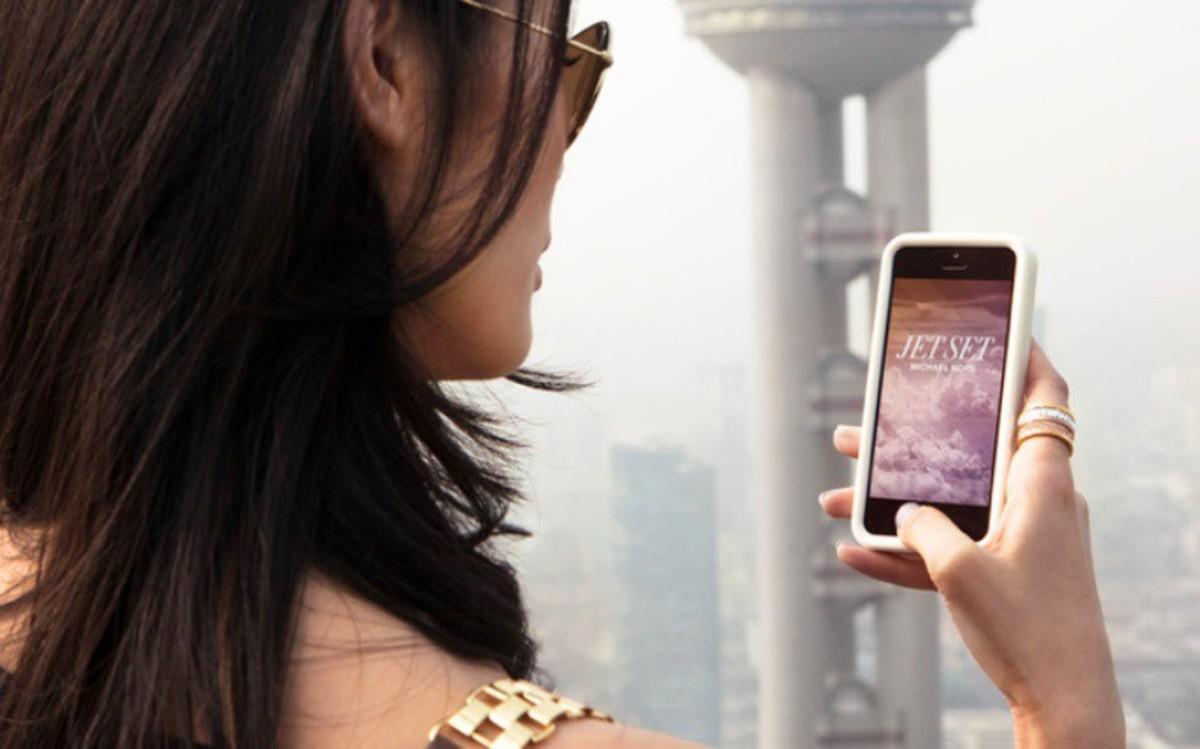 Michael Kors' Jet Set app. Photo: Michael Kors