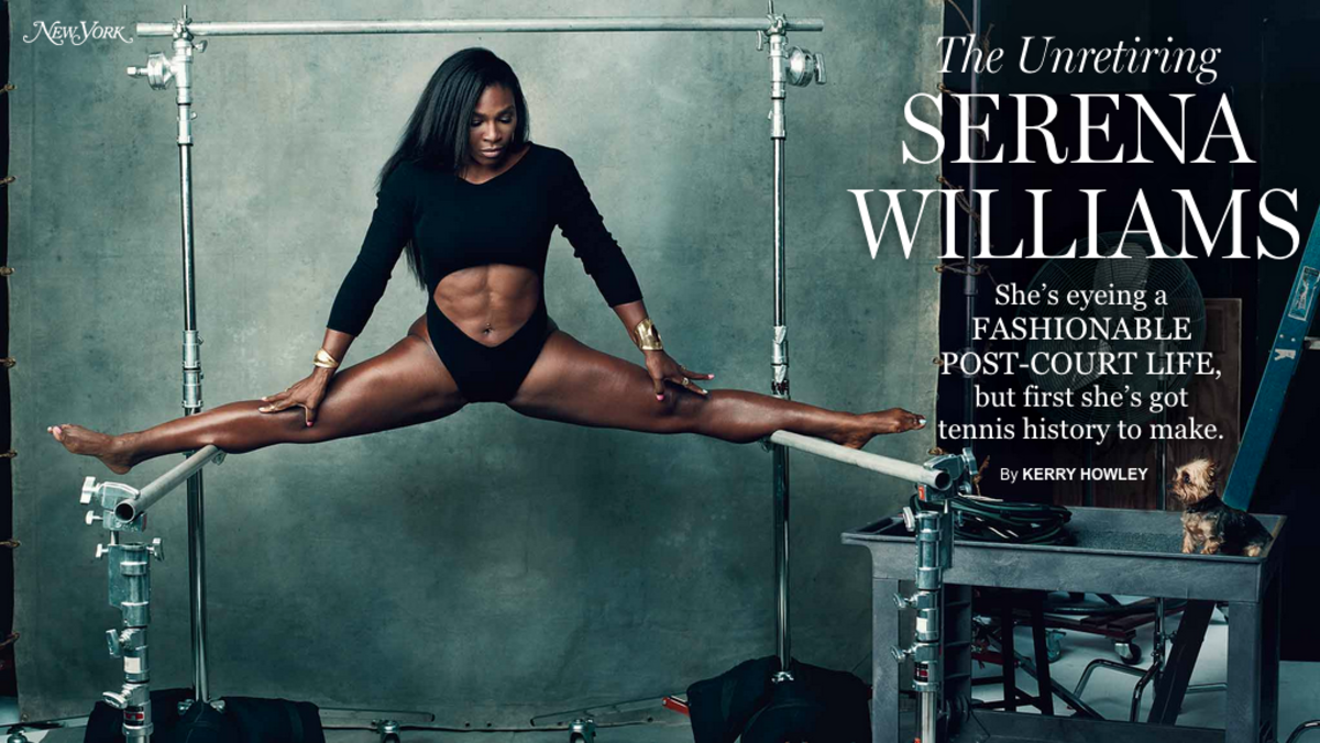 Serena Williams in 'New York' magazine. Photo: Norman Jean Roy/New York
