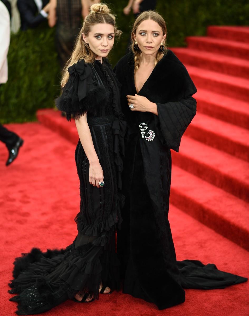Ashley and Mary-Kate Olsen at this May's Costume Institute gala. Photo: Andrew H. Walker/Getty Images for Variety