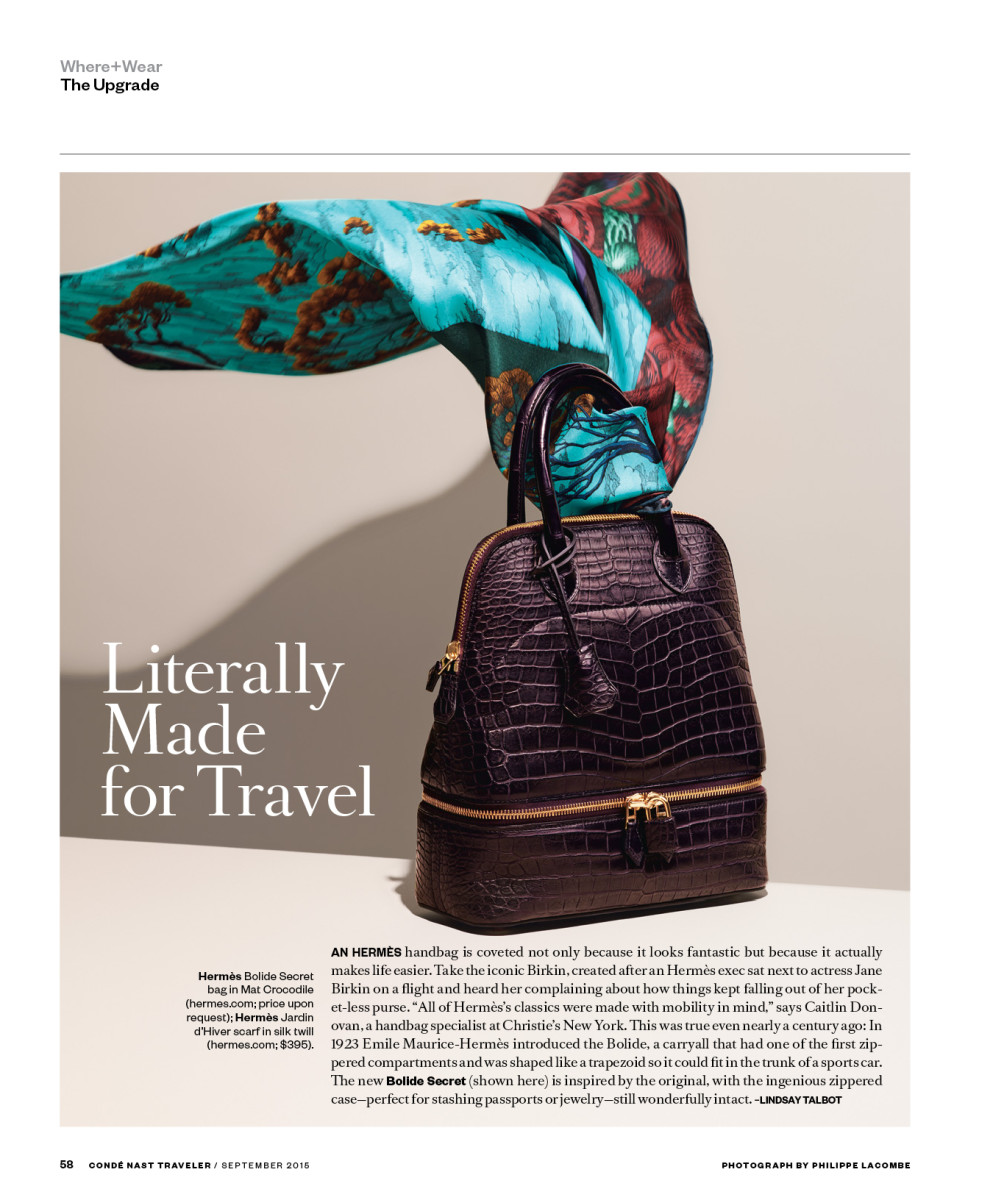 A page from the September issue of 'Condé Nast Traveler.' Photo: 'Condé Nast Traveler'