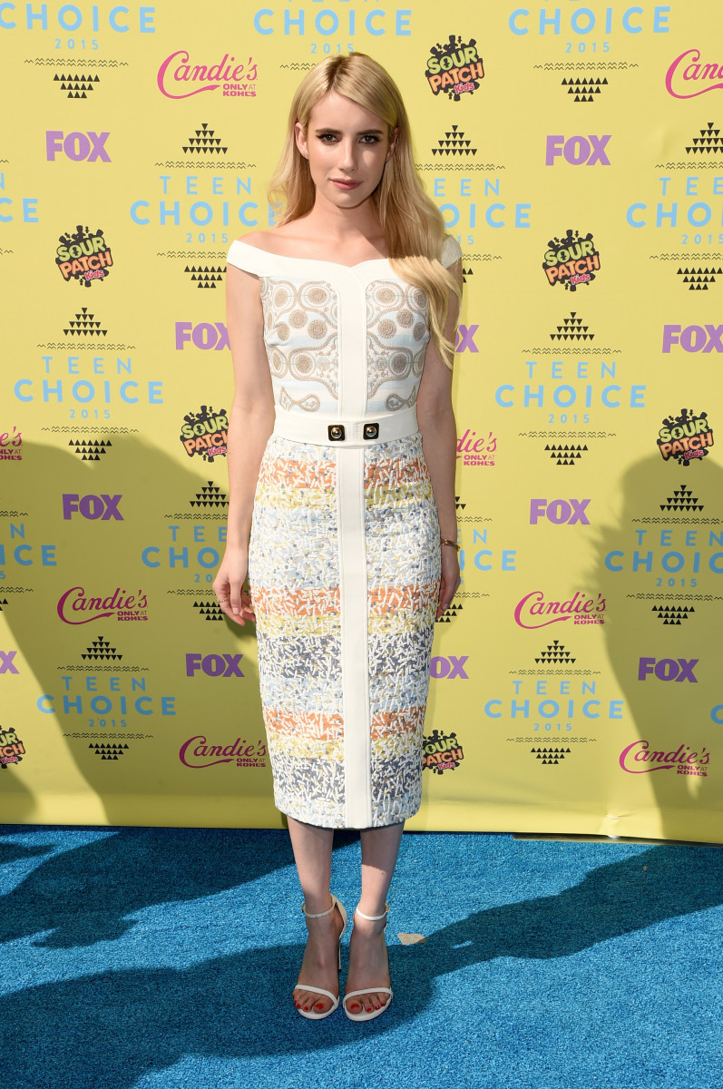 Emma Roberts in Peter Pilotto. Photo: Jason Merritt/Getty Images