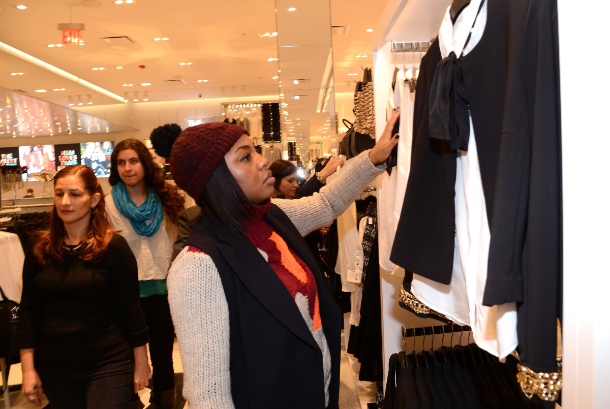 A shopper at H&M's Times Square flagship. Photo: Larry Busacca/Getty Images for H&M