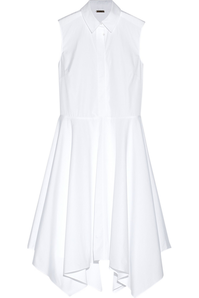 Adam Lippes asymmetric cotton-poplin midi dress, $356, available at The Outnet.