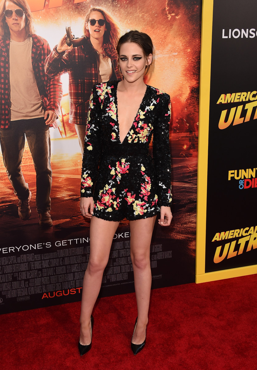 "Actress Kristen Stewart at the premiere of  ""American Ultra."" Photo: Jason Merritt/Getty Images"