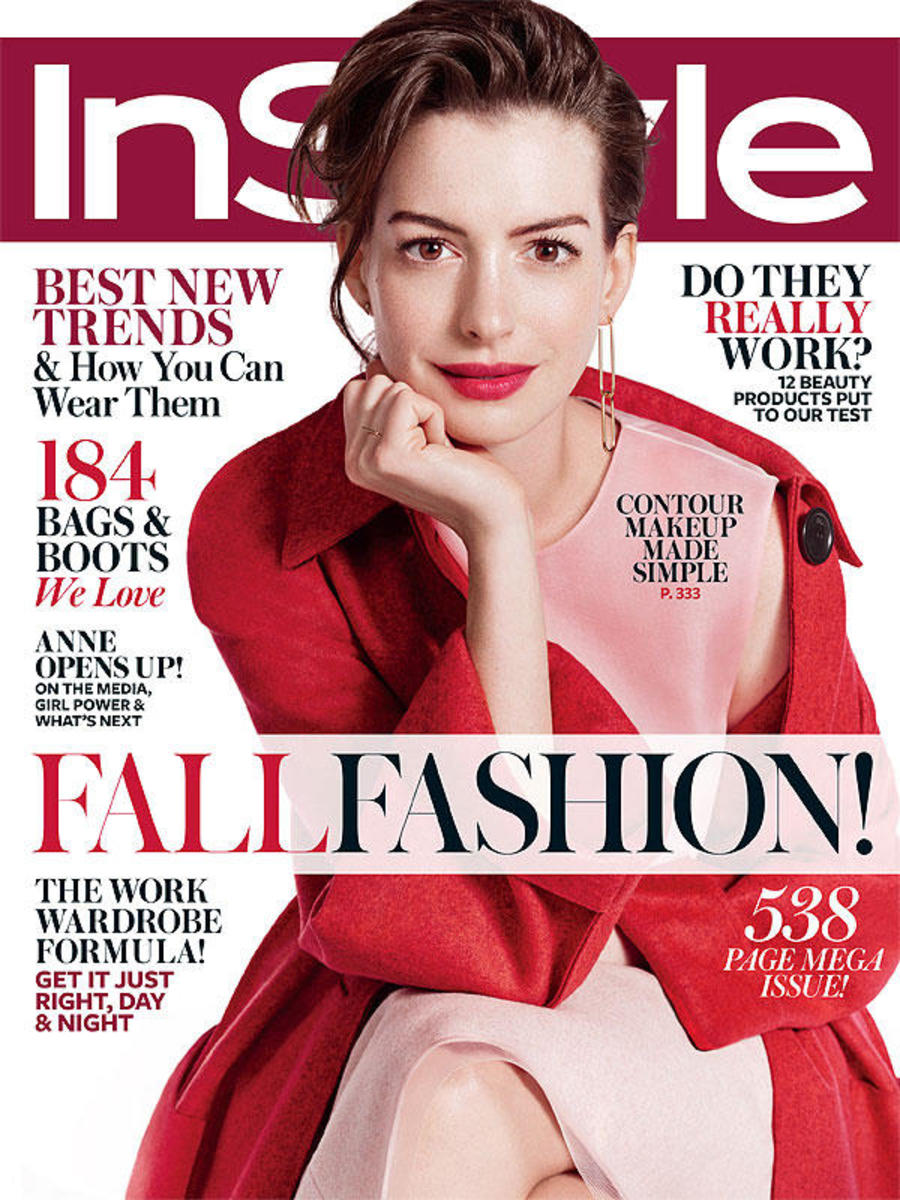 Anne Hathaway on 'InStyle.' Photo: Michelangelo Di Battista/InStyle
