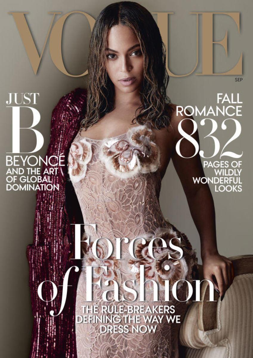 Beyoncé on 'Vogue.' Photo: Mario Testino/Vogue