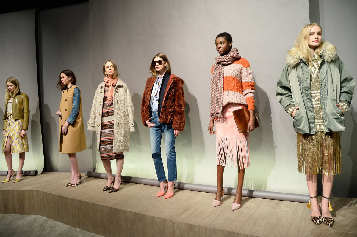 J.Crew's fall 2015 presentation at New York Fashion Week. Photo: Fernanda Calfat/Getty Images