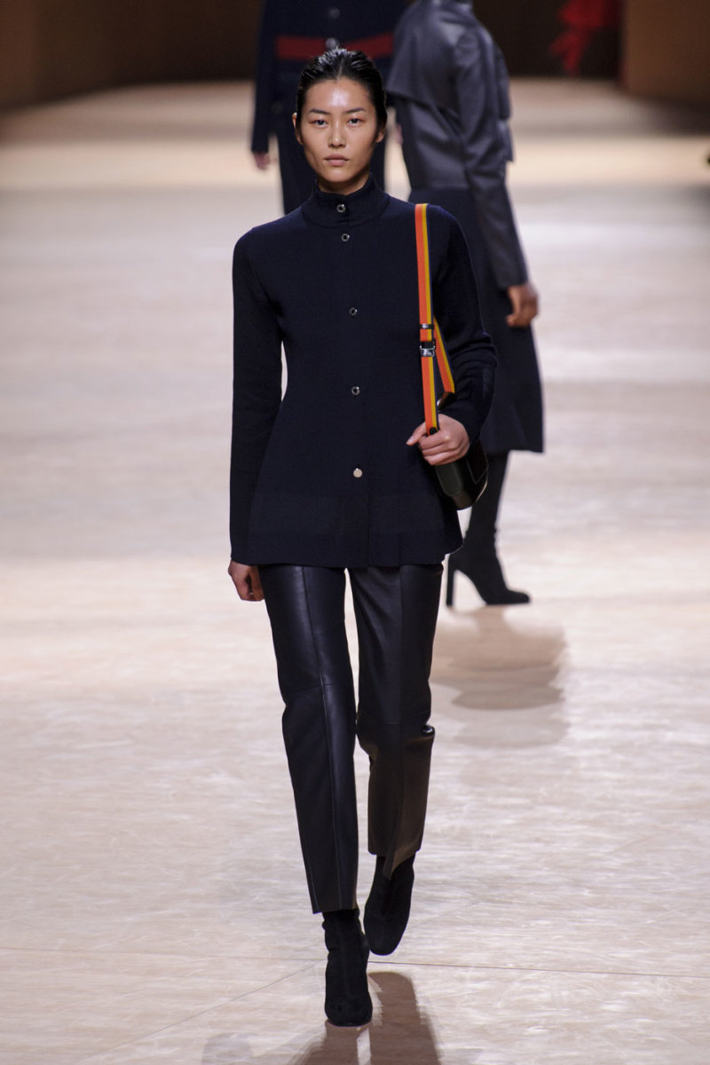 A look from the Hermès fall 2015 collection. Photo: Imaxtree