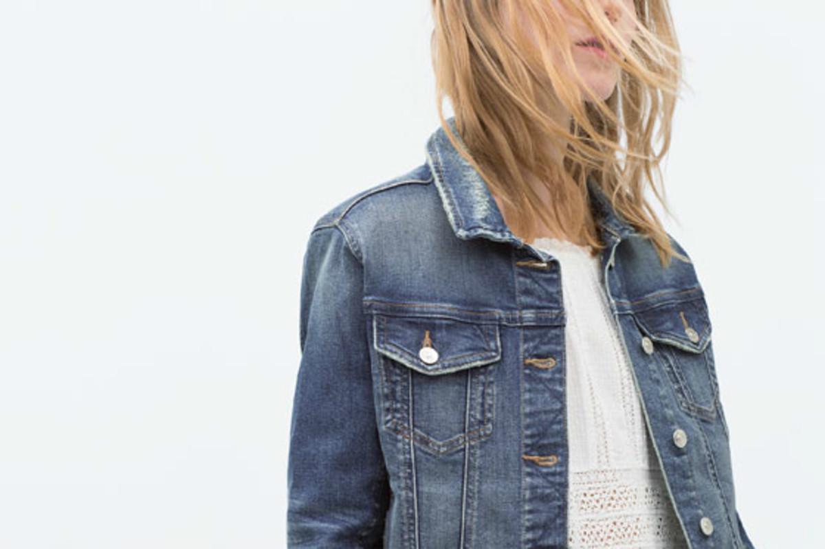 Denim jacket, on sale now at Zara.