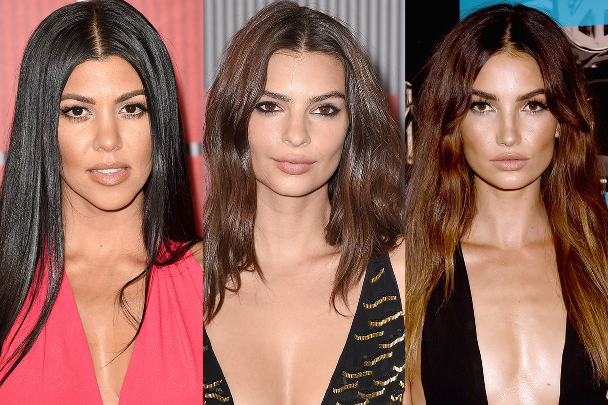 Kourtney Kardashian, Emily Ratajkowski, Lily Aldridge. Photos: Jason Merritt/Steve Granitz/Jeff Kravitz Getty Images