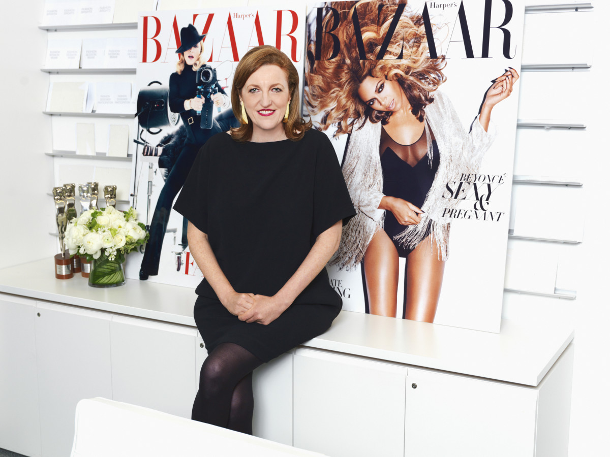 Harper's Bazaar Editor-in-Chief Glenda Bailey in her office. Photo: Giorgio Niro