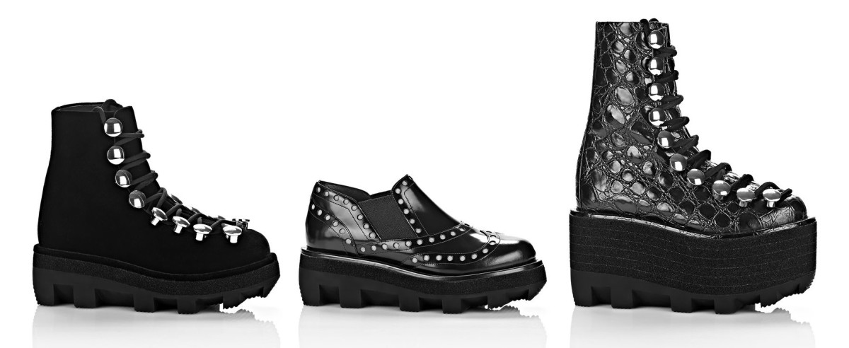Sam low lace up boot, $1,095, available at Alexander Wang; Steph Oxford, $995, available at Alexander Wang; Sam high lace up boot, $1,995, available at Alexander Wang.