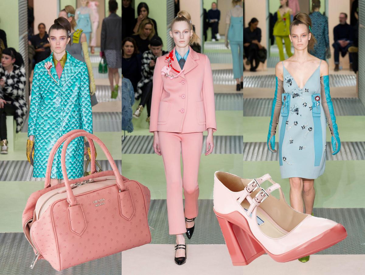 Runway Photos: Imaxtree, Prada inside bag, $6,500, available at Prada;Prada Mary Jane pump, $790, available at Neiman Marcus.