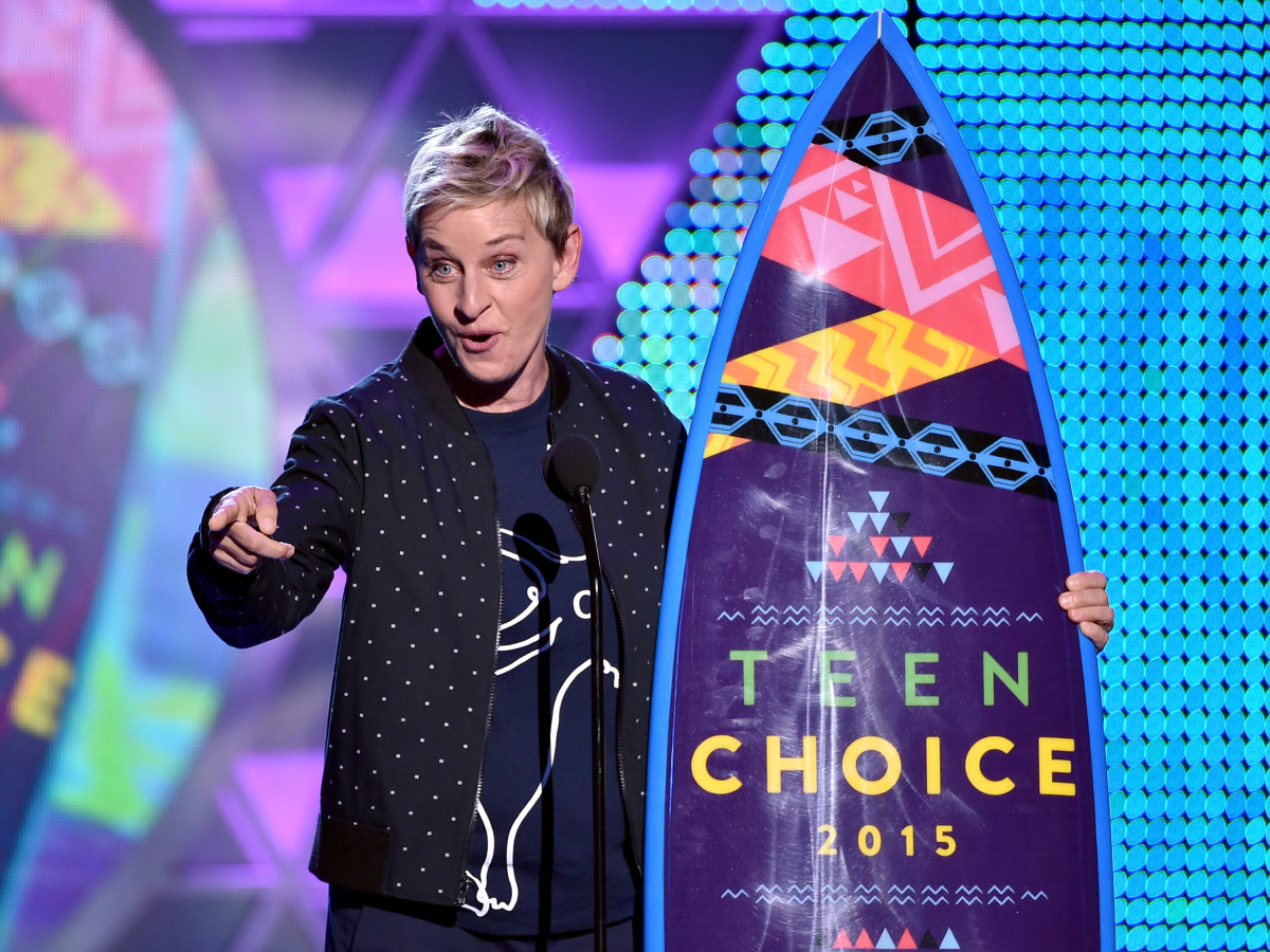 Ellen DeGeneres at the Teen Choice Awards in August. Photo: Kevin Winter/Getty Images