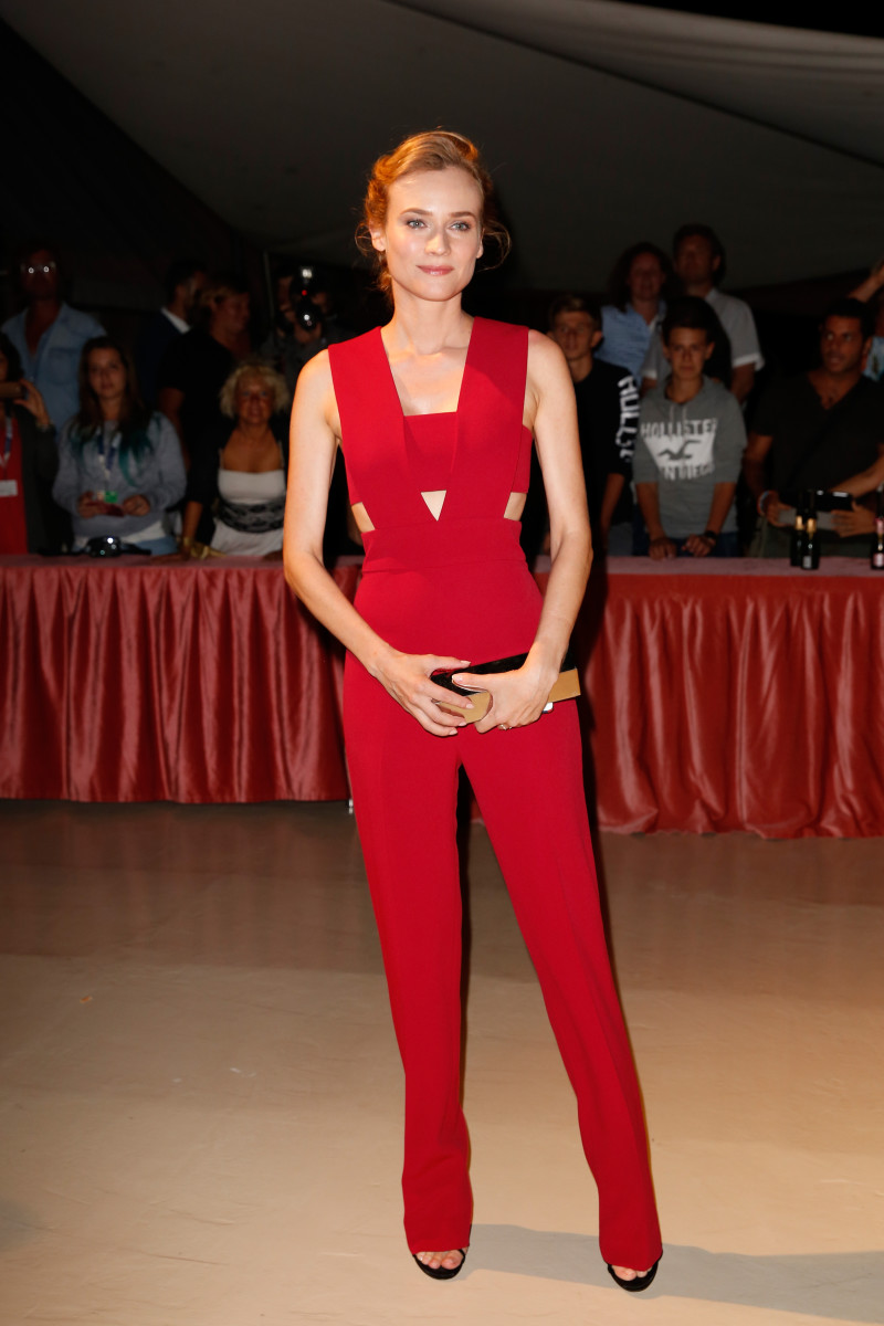 Diane Kruger in Cushnie et Ochs at the opening dinner during the 72nd Venice Film Festival. Photo: Tristan Fewings/Getty Images