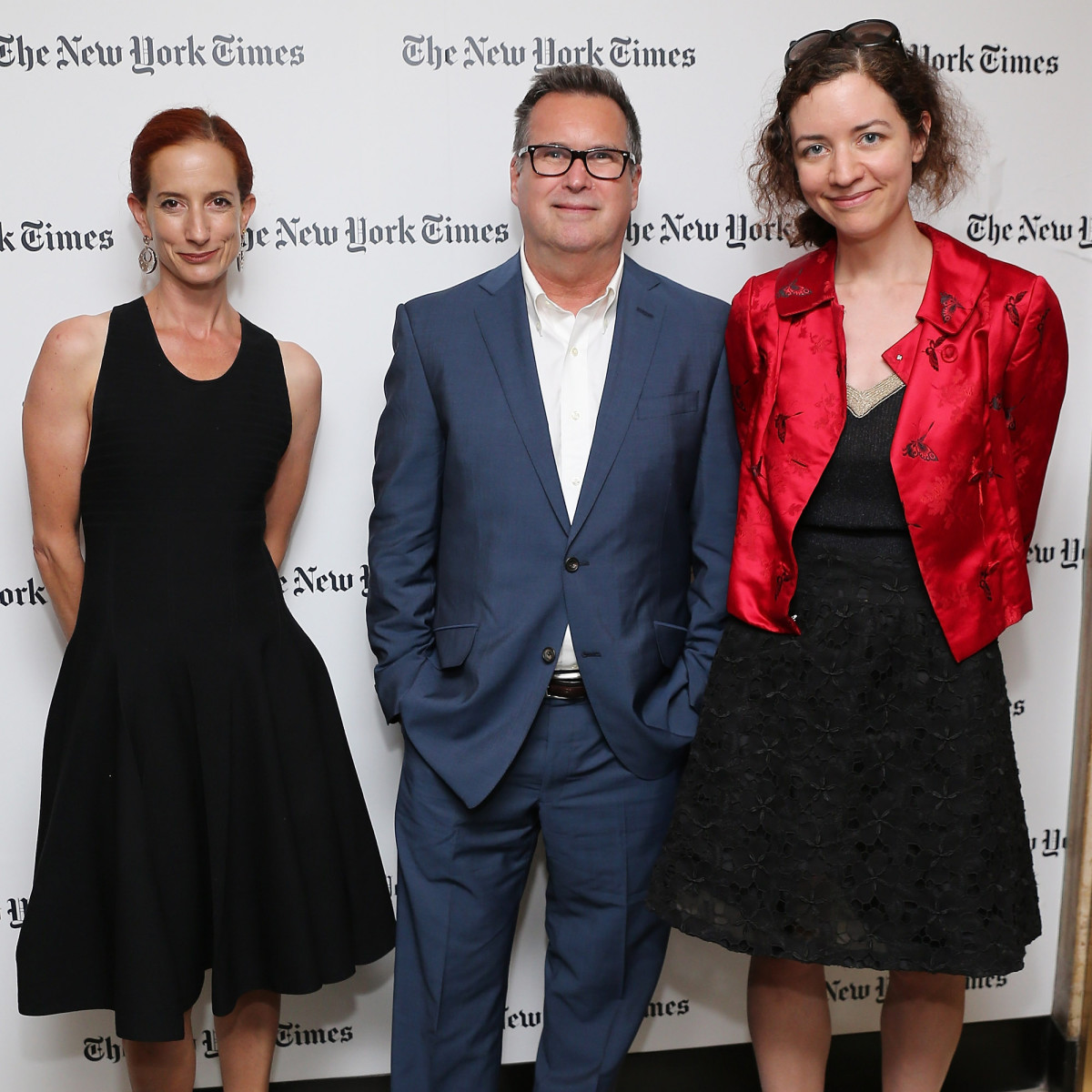 Vanessa Friedman, Stuart Emmrich and Alexandra Jacobs in 2014. Photo: Neilson Barnard/Getty Images for 'The New York Times'