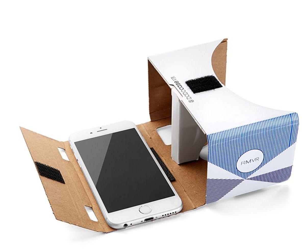 Photo: Rebecca Minkoff Google cardboard headset