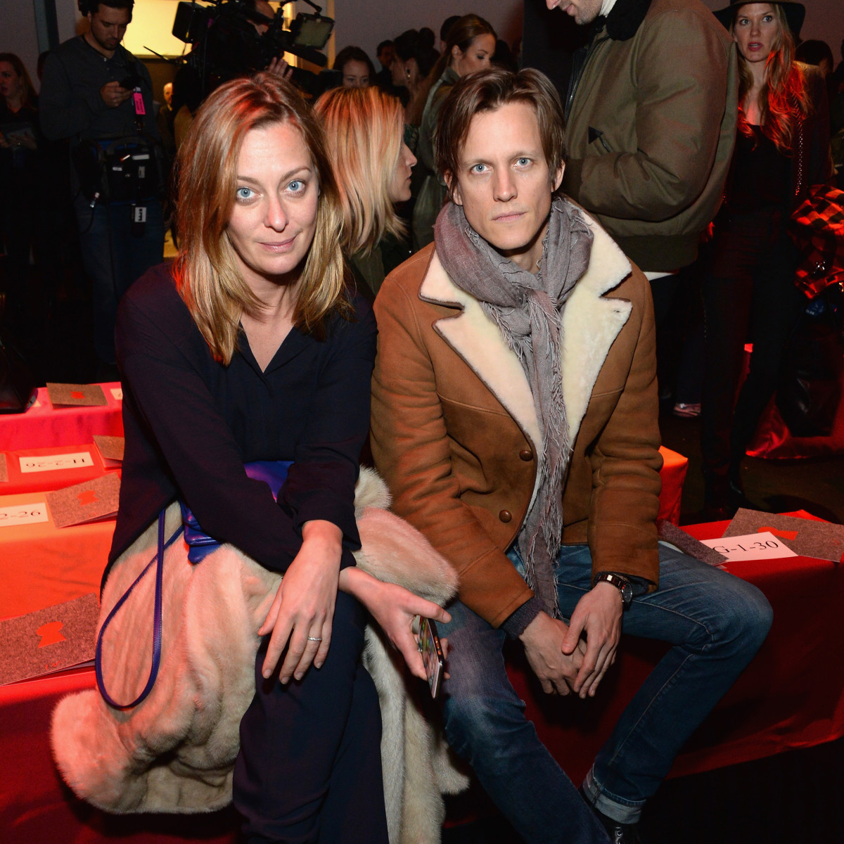 Vanity Fair's Jessica Diehl and WSJ's Magnus Berger in 2015. Photo: Ben Gabbe/Getty Images