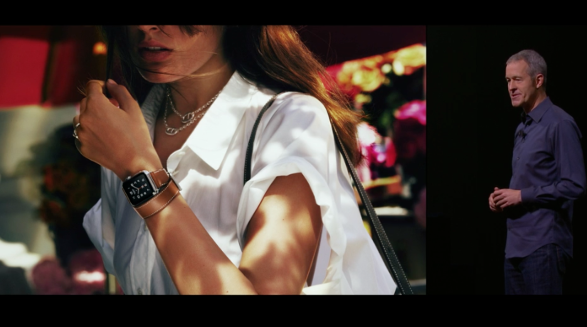An Hermès Apple Watch band. Screengrab: Apple