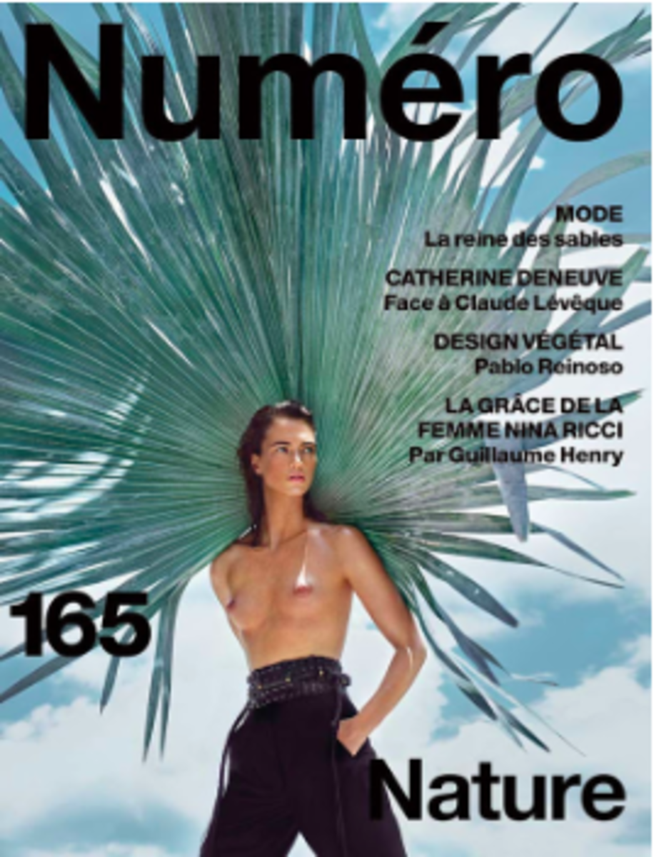 Cover of Numero Magazine, styled by Elizabeth Sulcer