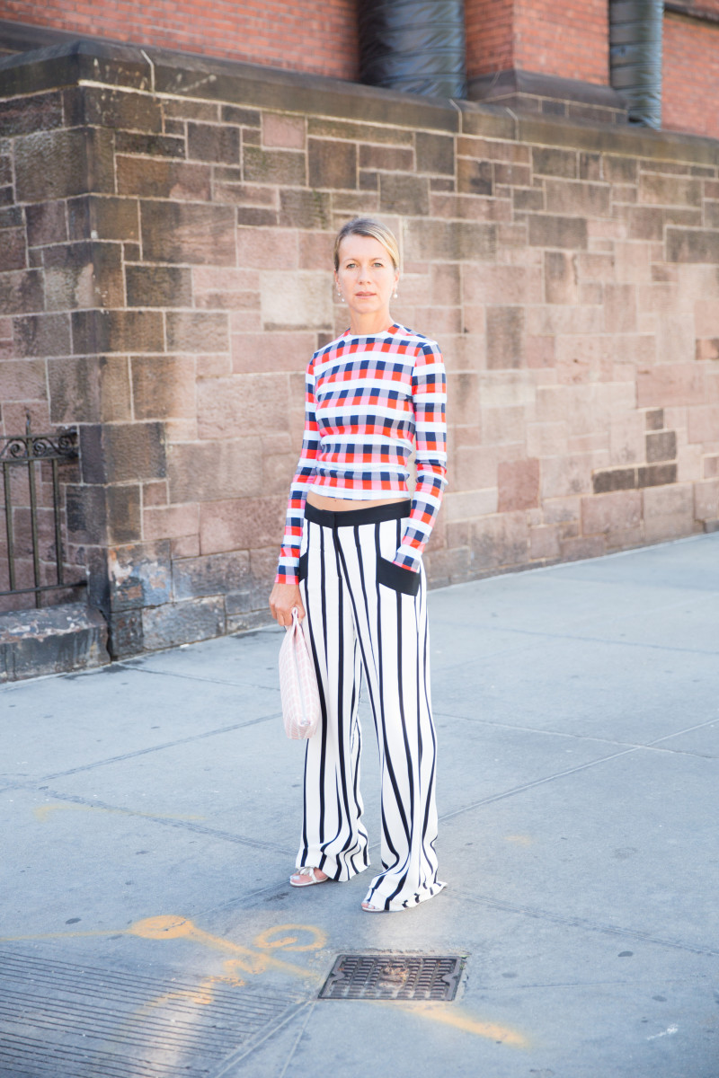 Natalie Joos in a Tanya Taylor top and Giulietta pants. Photo: KDV/Fashionista