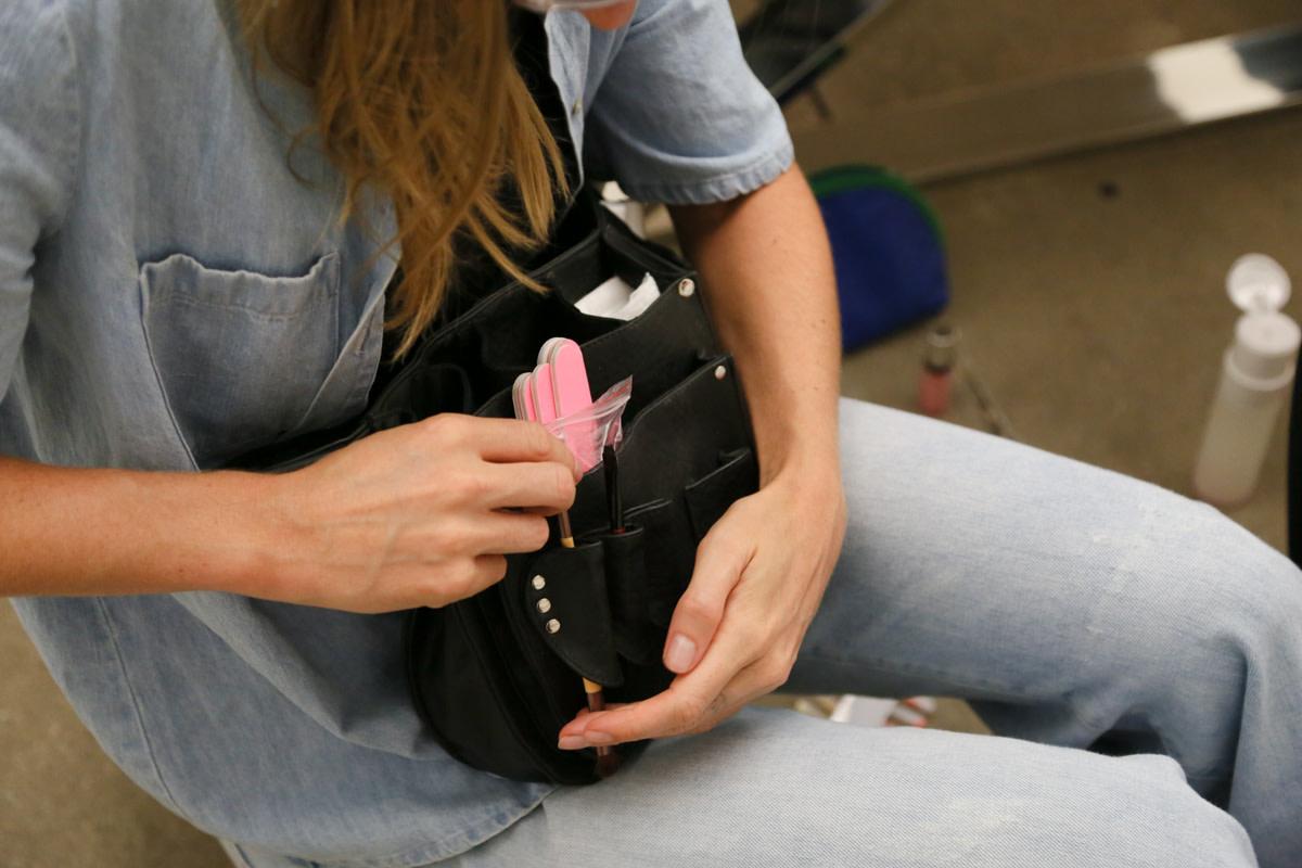 Madeline with her tool belt. Photo: Nina Frazier Hansen/Fashionista
